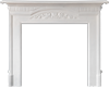 harton white cast mantel