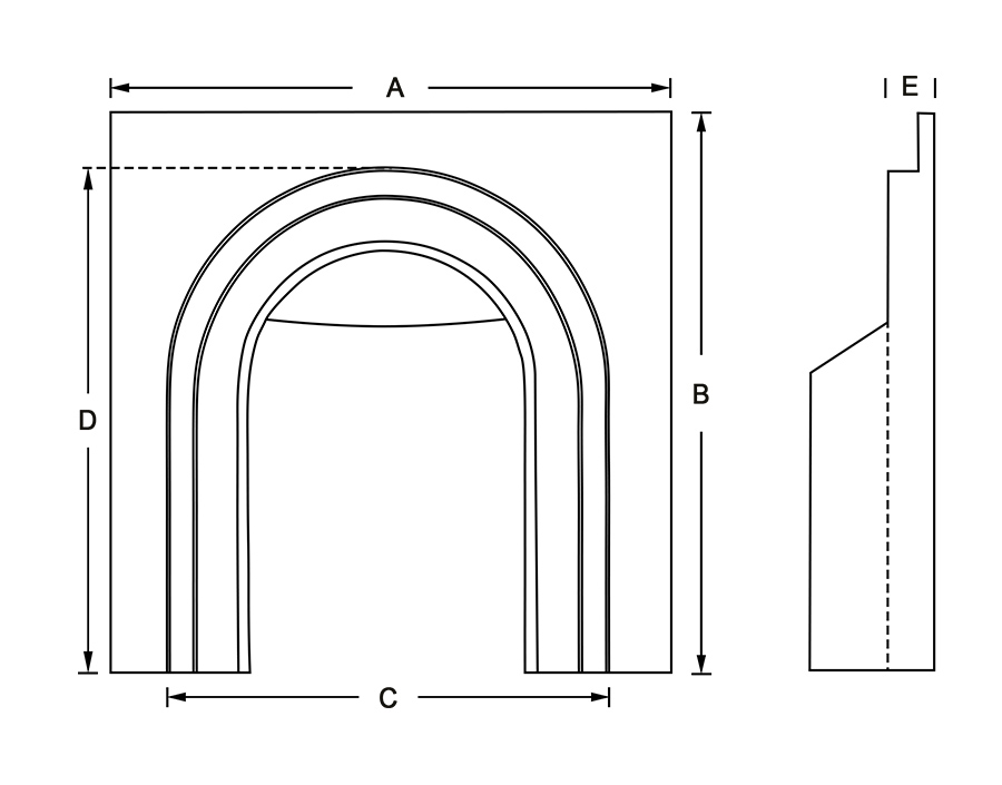 arched insert diagram