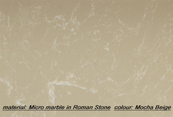 colour: mocha beige, material: micro marble.